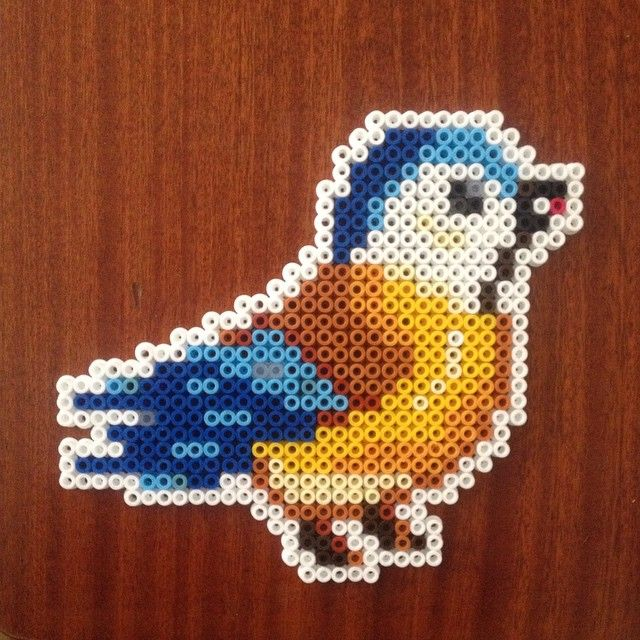 Bird hama perler beads by pearlyhaze