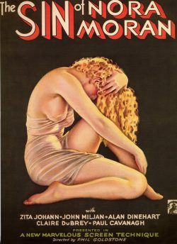 Vintage Movie Poster: 1933 The Sin of Nora Moran by Alberto Vargas