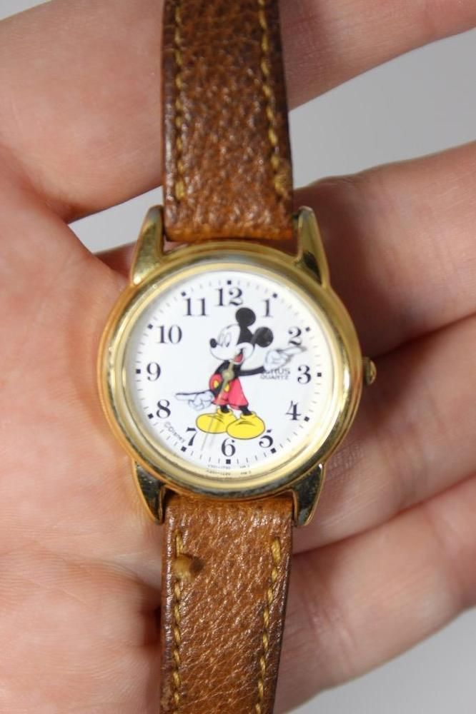 Rare Retired Lorus Mickey Mouse Watch Ladies or Children-ADORABLE FUN!