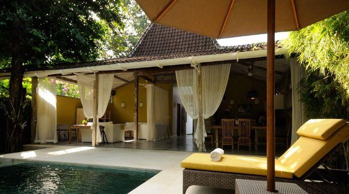 Javanese house with pool in our beautiful Villa Adagian #luxuryvilla #pool #Bali villa adagian bali joglo view