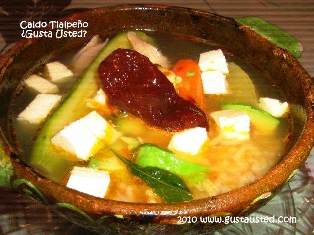 El caldo tlalpe o tiene su origen en tlalpan que era un for Ahora mexican cuisine