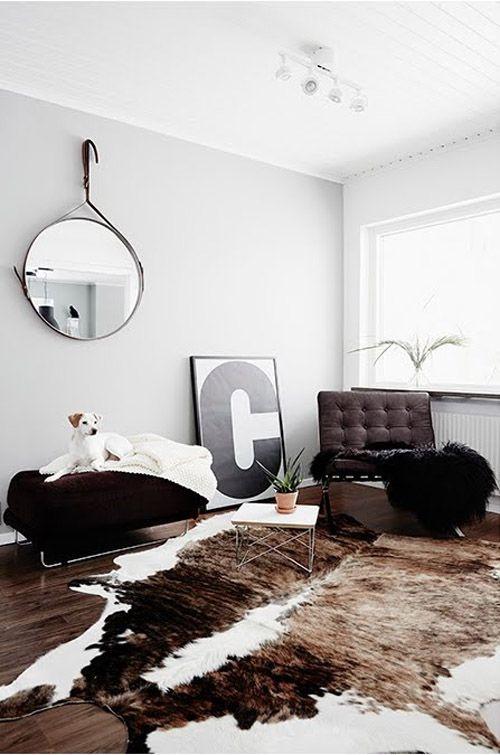 furniture - living room : barcelona chair living room cowhide | idea