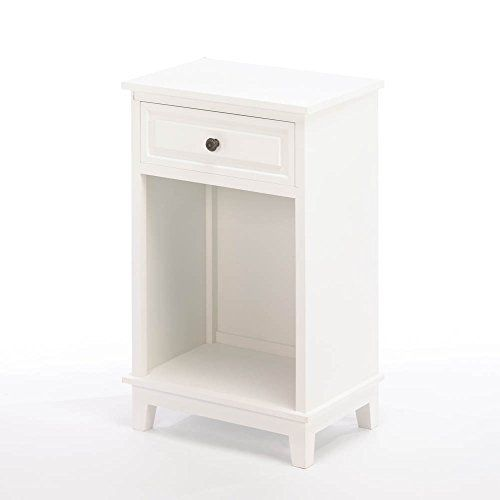 Traditional White Wood Side Table With Drawer  Https://sofatablesandconsoles.info/traditional