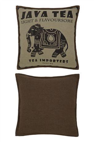 Bali Tea Print Cushion