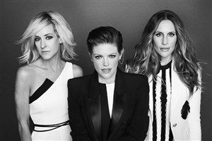 Dixie Chicks - Approved Press Photo.jpg The Dixie Chicks' world tour will mark the Grammy-winning trio's first major U.S. tour since the Accusations & Accidents World Tour in 2006. The band includes, left to right, Marty Maguire, Natalie Maines, and Emily Robison.