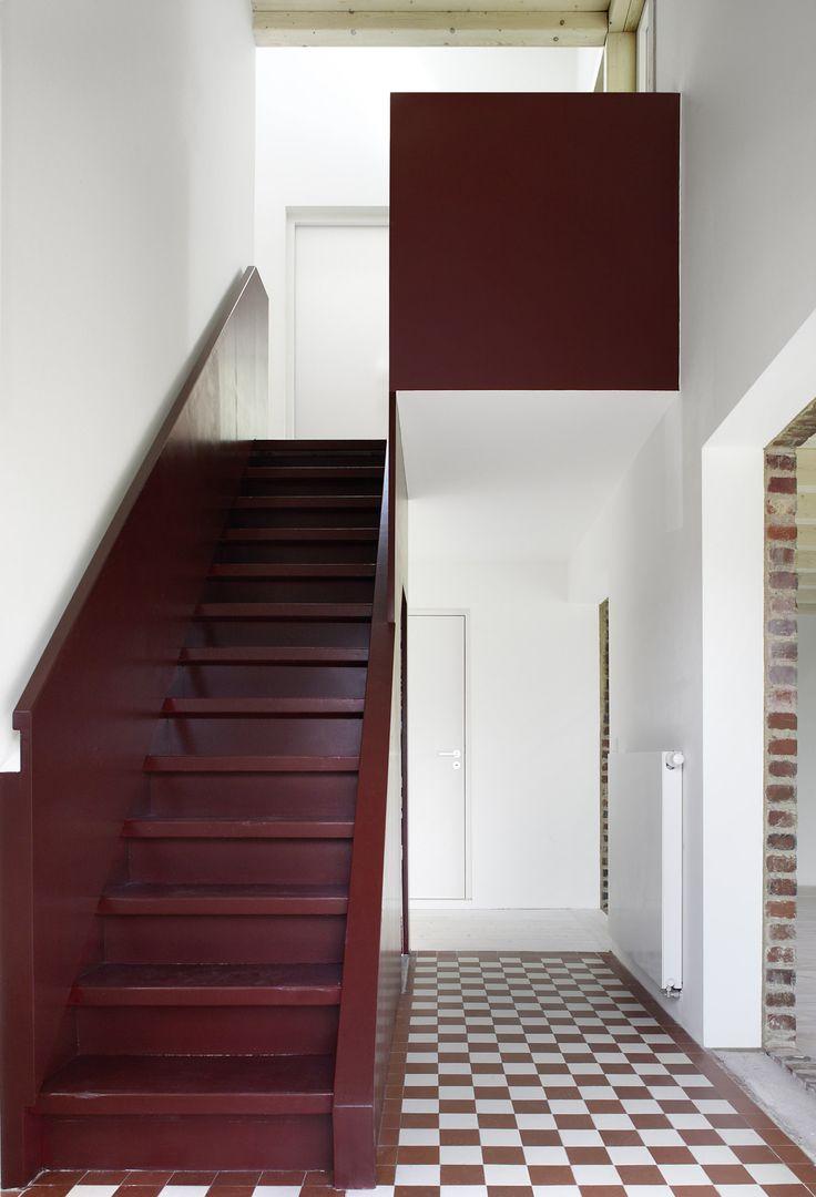 Prachtige kleurkeuze voor deze trap.