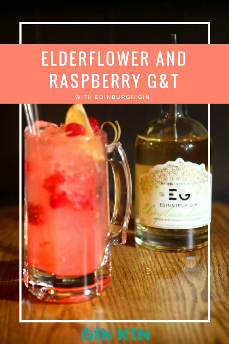 A glorious gin and tonic recipe for you all - the elderflower and raspberry G&T! Perfect for a hot summers day in the garden. #theginkin