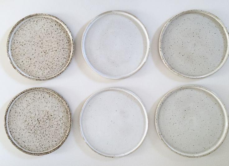 White spotted plates by spiek ceramiczny