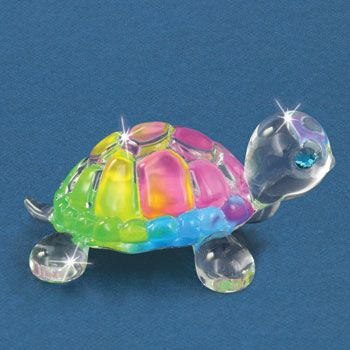 Glass Baron Snowcone Turtle Figurine