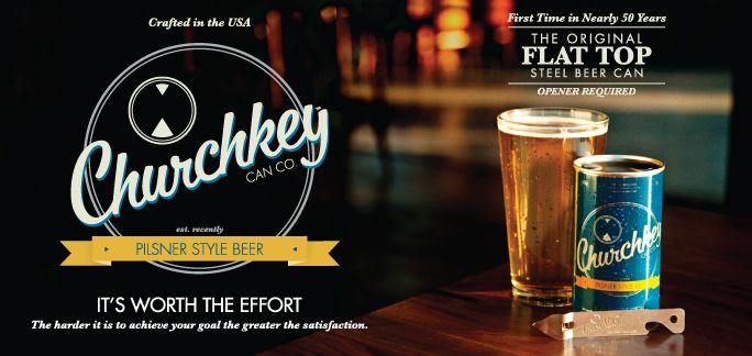 Churchkey Can Co. New beer from PDX. Flat top beer is back!