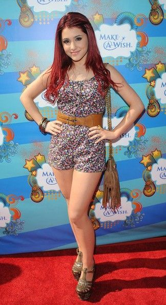Ariana Grande - flower jumpsuit red carpet | Celebrity looks | Pinterest | Ariana grande Red ...