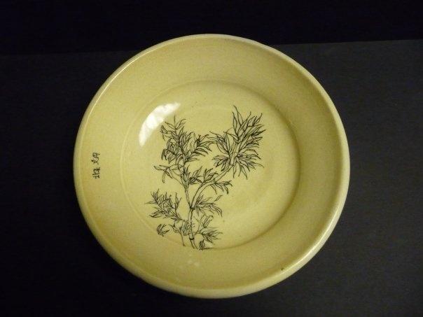 porcelain plate I made. I make pottery.: Pottery, Porcelain Plates