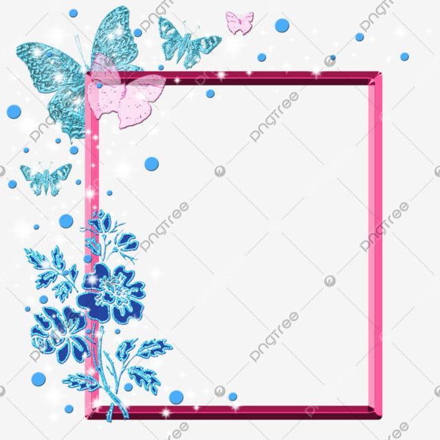 Butterflies And Flowers On The Bright Pink Frame Butterfly Clipart Decorative Frame Pink Frame Png Transparent Clipart Image And Psd File For Free Download Pink Frames Pink Flowers Background Butterfly Clip