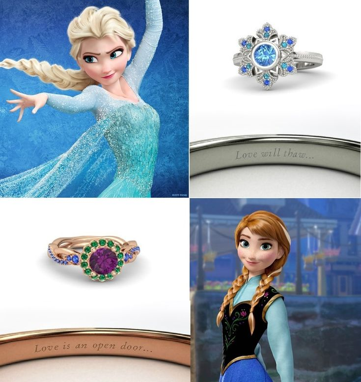 Frozen Disney Princess Rings