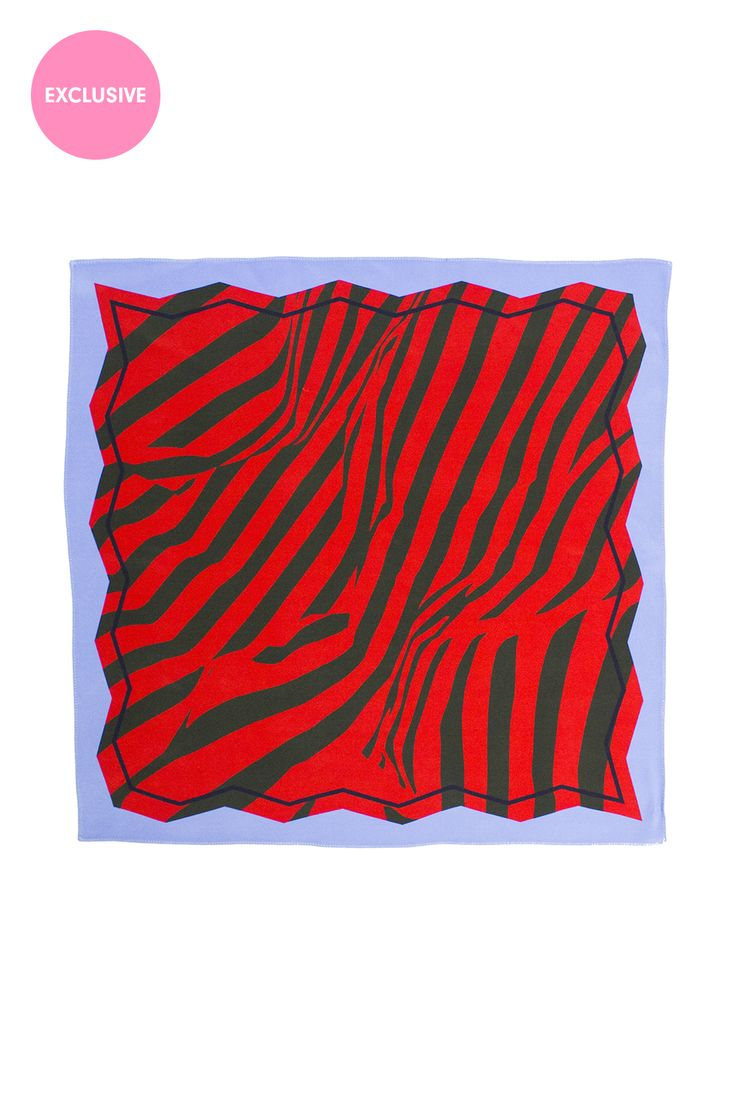 <p>Cutout Edge Blue & Red Print Scarf</p><p>Exclusive to the Danielle Romeril E-store. Wear AW16 before ...