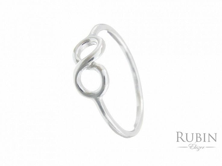 Végtelen motívumos ezüst gyűrű
