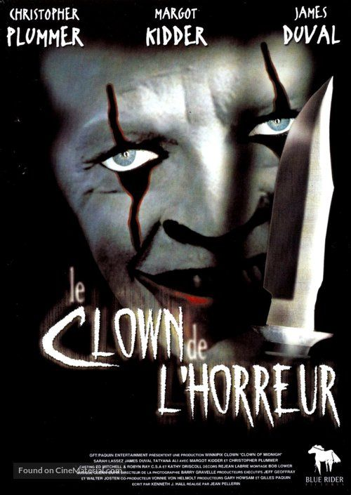 High Resolution French Movie Poster Image For The Clown At Midnight