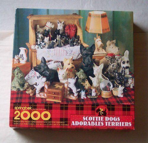 Vintage Scottie Dogs Adorable Terriers Jigsaw Puzzle 2000 Pieces #NotApplicable