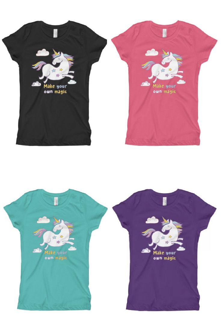 Design t shirt kid - Magic Unicorn Girl S T Shirt Made In Us Order Online Unicorn Universe