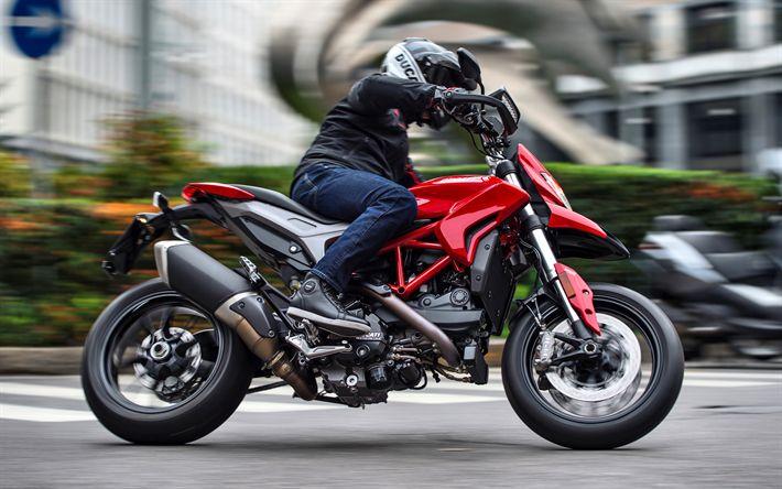 Scarica sfondi Ducati Hypermotard 939, 2018 bici, motociclista, la moto italiana, la Ducati