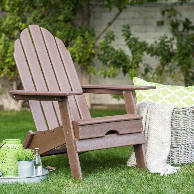 Outdoor Belham Living Belmore Recycled Plastic Folding Adirondack Chair  Teak HZXMFC38 TEAKThe 25 Best Folding Adirondack Chair Ideas On Pinterest