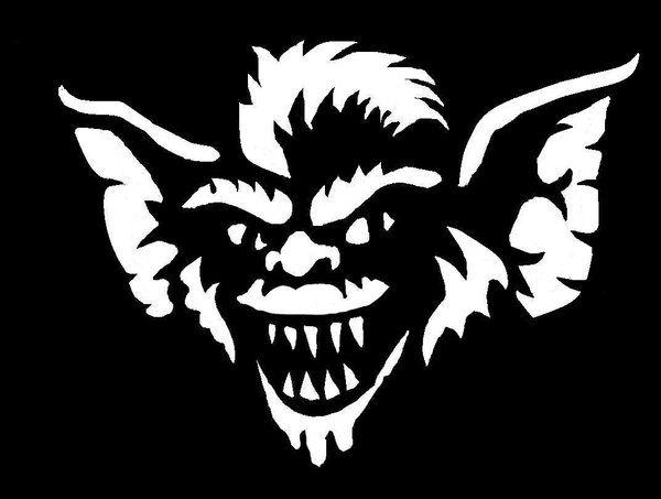 gremlins pumpkin stencils - Google Search                                                                                                                                                                                 More
