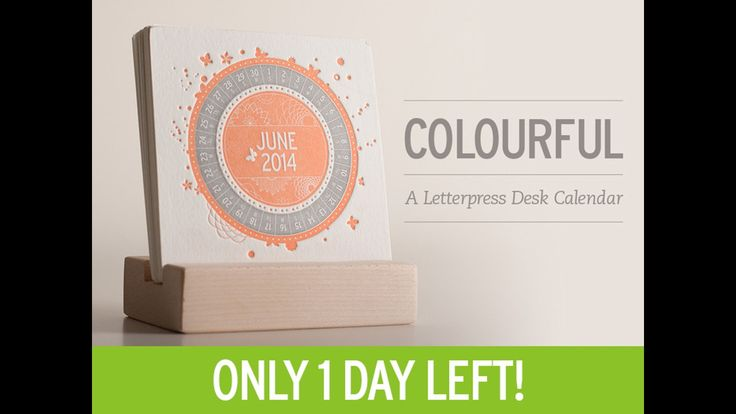 COLOURFUL is a Letterpress Desk Calendar for 2014 that is printed with a 50-year-old vintage platen press.