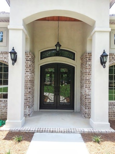 These homeowners wanted their arch top transom to match their custom wrought…