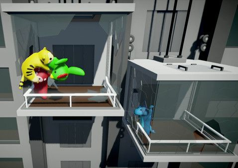 Gang Beasts is a silly multiplayer party game with surly gelatinous characters, brutal mêlée fight sequences, and absurdly hazardous environments. Online multiplayer is supported in the 'unstable' Early Access builds on Steam but is not available in the default Steam Early Access game currently.