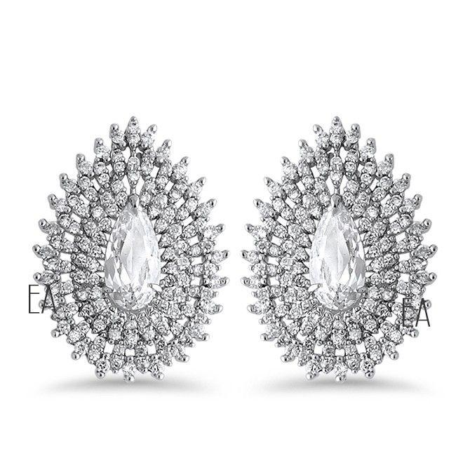 Brinco Gota Cravejado Com Zirconias  #brincos #acessórios #noivas #noiva #wedding #casamento #bride