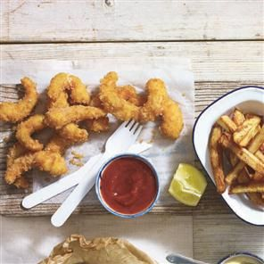 Scampi and chips makeover