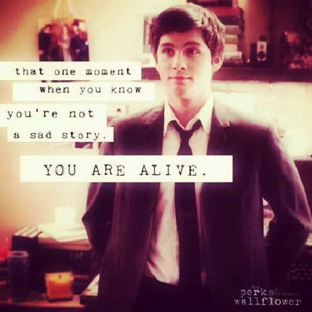 Perks of being a wallflower quote   Words to live by ...
