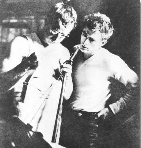 James Dean with Marlon Brando -rare photo