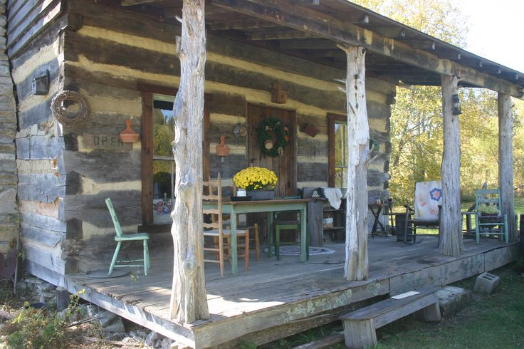 605 best images about primitive front porches on pinterest for Primitive cabin plans