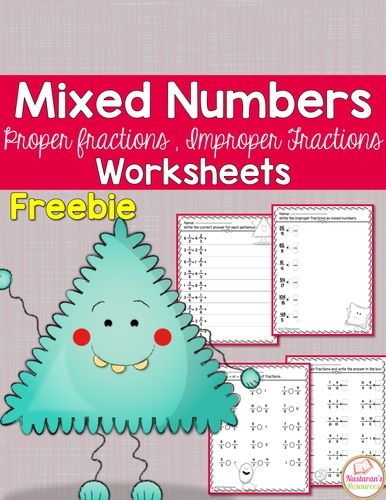 Adding and subtracting mixed and improper fractions worksheet tes