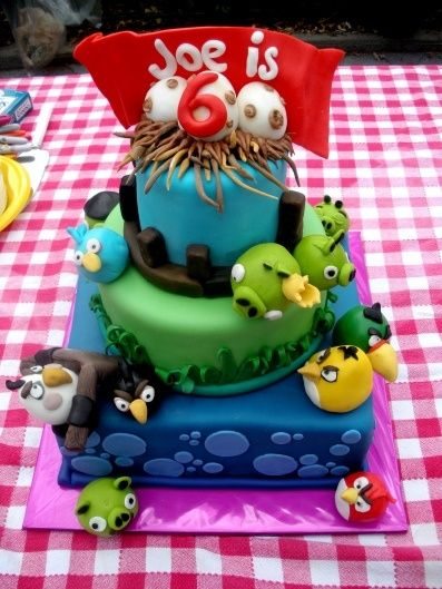 Angry Bird Birthday Cake   How Do It Info