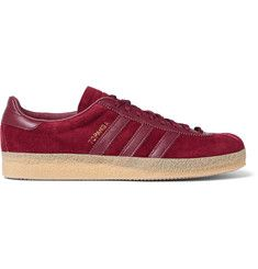 Topanga Leather-Trimmed Suede Sneakers