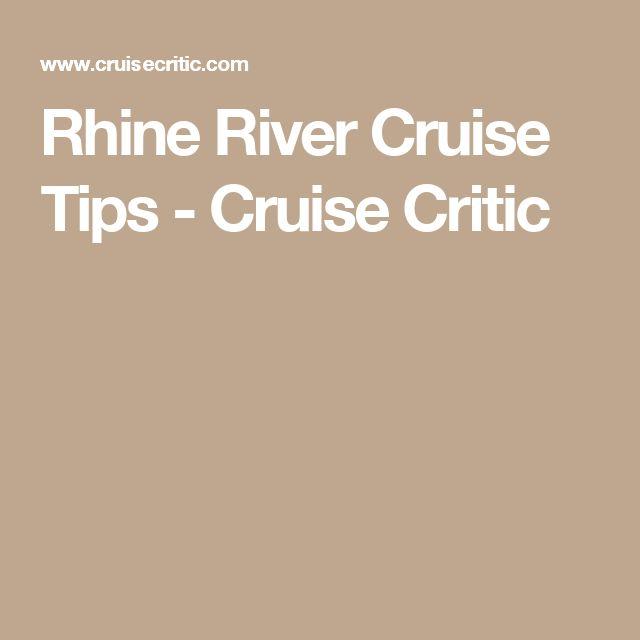 Rhine River Cruise Tips - Cruise Critic