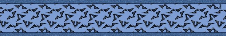 Gone Batty • Blue Table Runner This unique table runner is made of good quality thick woven burlap, 100% polyester. http://www.theartdeli.com
