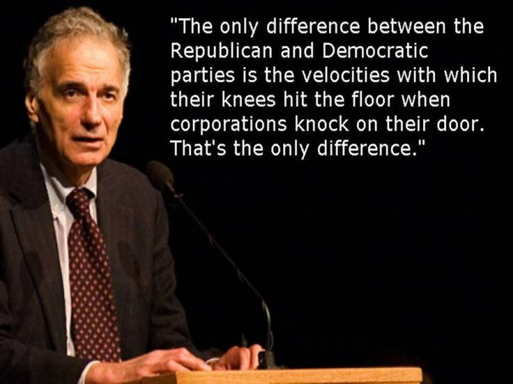 The Remarkable Political Philosophy of Ralph Nader, Great American, Presidential Candidate, but still unsuccessful...