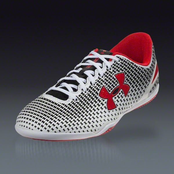 Buy Under Armour Speed Force III ID - Black/White/Red  Turf Soccer Shoes on SOCCER.COM. Best Price Guaranteed. Shop for all your soccer equipment and apparel needs.