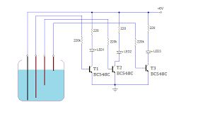 Circuit Diagram water level indicator
