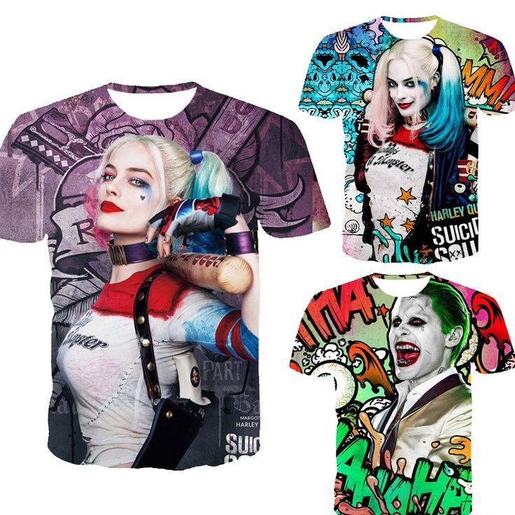 Suicide squad men 3d t shirt Harley Quinn joker  $17.82 and FREE shipping  Get it here --> https://www.herouni.com/product/suicide-squad-men-3d-t-shirt-harley-quinn-joker/  #superhero #geek #geekculture #marvel #dccomics #superman #batman #spiderman #ironman #deadpool #memes