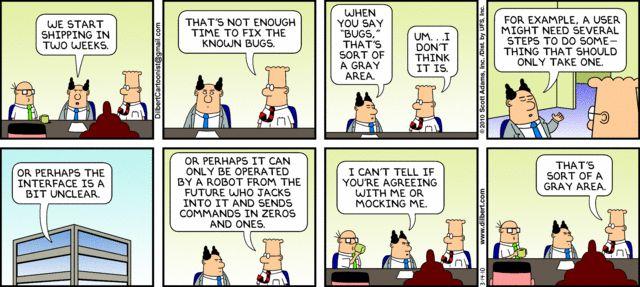 Dilbert on Software Testing