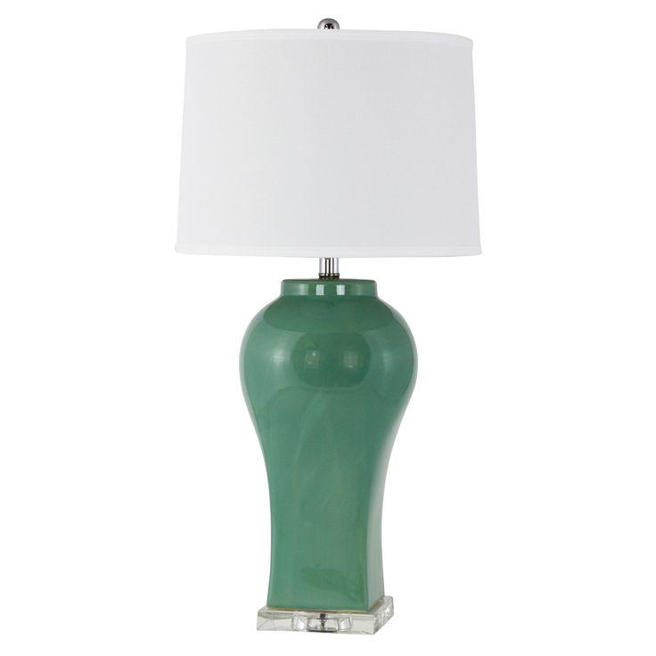 Misty Teal Table Lamp