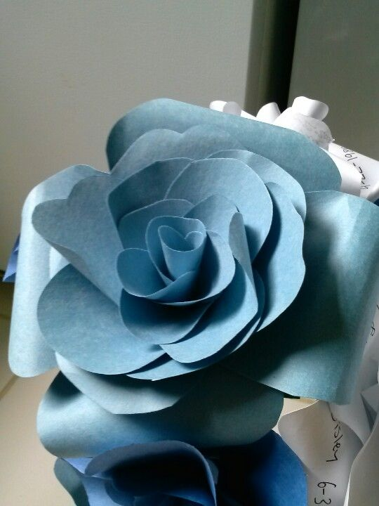 Construction paper flowers.