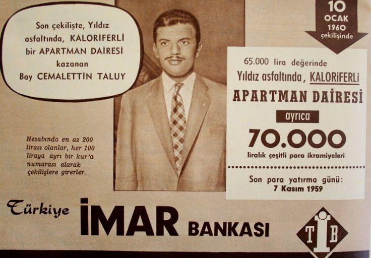 OĞUZ TOPOĞLU : türkiye imar bankası 1959 nostaljik eski reklamlar...
