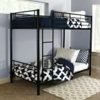 Sunset Twin Over Twin Metal Bunk Bed, Black