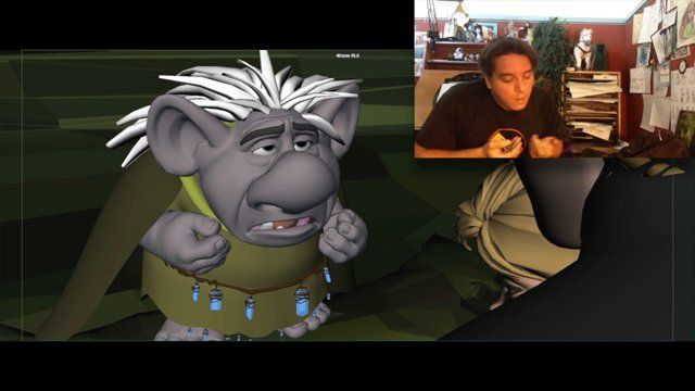 Here's the other progression reel I wanted to share. In this case its a much more subtle shot, with acting and dialogue. I used video reference and tried to perform the dialogue as if I was the character of Grand Pabby, the old wise Troll. Unfortunately my acting skills have much to be desired and could only use some snippets of video for reference. The rest of the acting came out of kind of acting things out in front of a mirror while animating, and going from there. Also , director and ...
