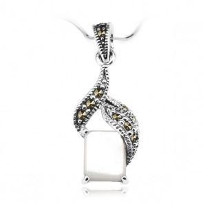 Srebrny wisiorek z markazytem - Biżuteria srebrna dla każdego tania w sklepie internetowym Silvea